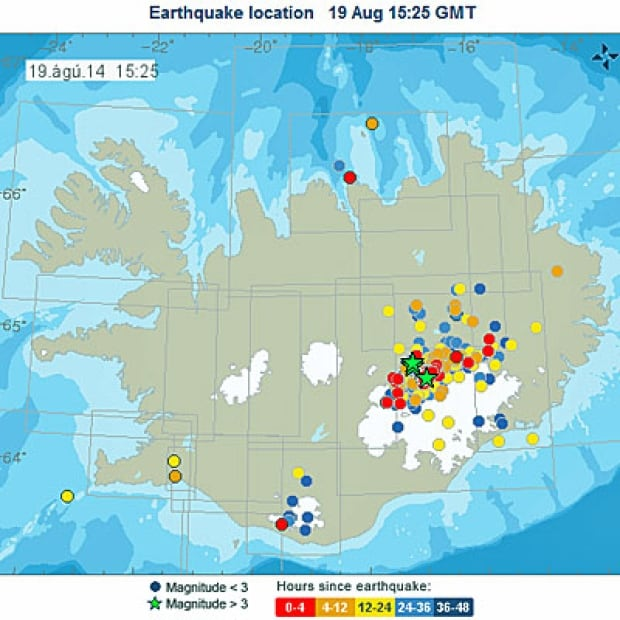 Iceland earthquake Bardarbunga