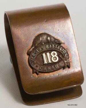 118th Battlion Napkin ring