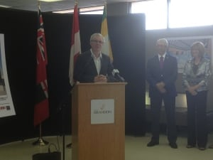 Greg Selinger at Brandon airport announcement