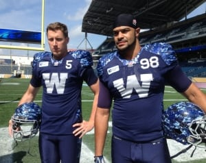 Winnipeg Blue Bombers signature special edition jerseys