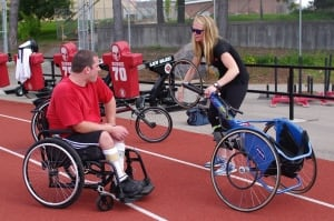 Robert Hummel Kayla Cornale para-athletics wheelchair racing