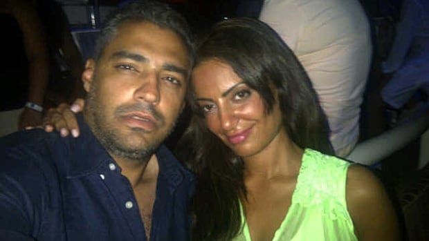Jailed Egyptian-Canadian journalist Mohamed Fahmy and his fiance, Marwa Omara, in happier times.