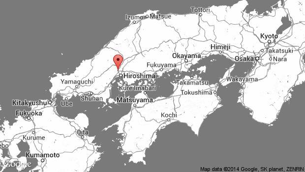 Japan landslide map