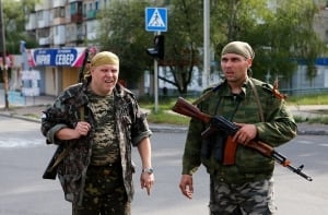 UKRAINE-CRISIS/MAKIIVKA-SHELLING
