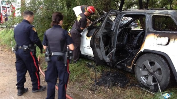 SUV fire in Sutherland.
