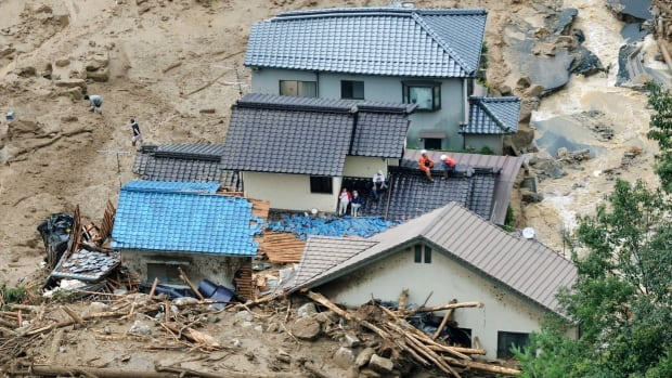 At least 72 people were killed in a landslide that struck hillside neighbourhoods in Hiroshima, Japan, on Aug. 20, following heavy rains.