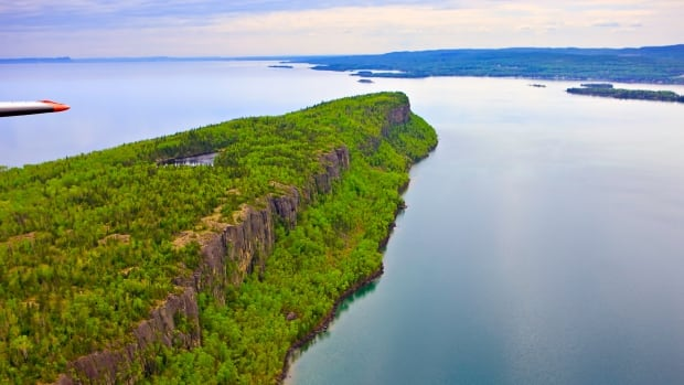 Cliffs along the coastline of Caribou Island on Lake Superior near Thunder Bay