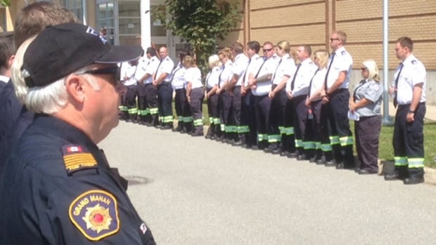First responders at funeral of paramedic William Mallock