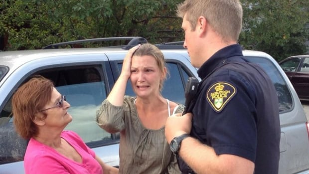 Jennifer Swartz arrives home to find fire crews in her yard.