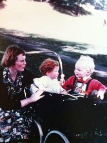 Gillian Bennett and her children Guy and Sara