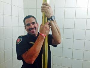 Firefighter poles