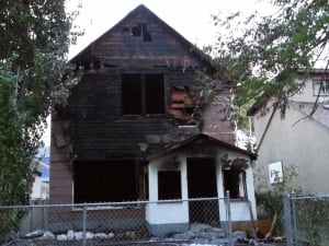 Lock St. house fire