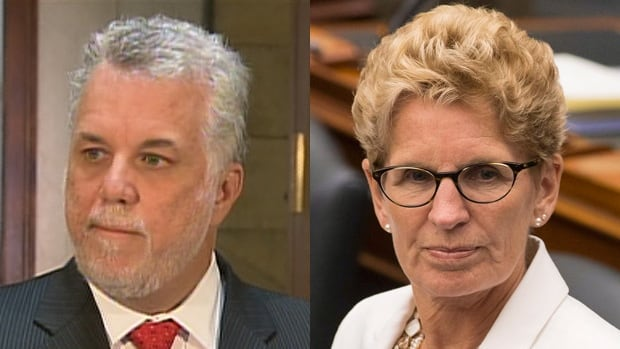 Quebec Premier Philippe Couillard and Ontario Premier Kathleen Wynne are meeting Thursday in Montreal before heading to the all-premiers' conference in P.E.I. that starts Tuesday.