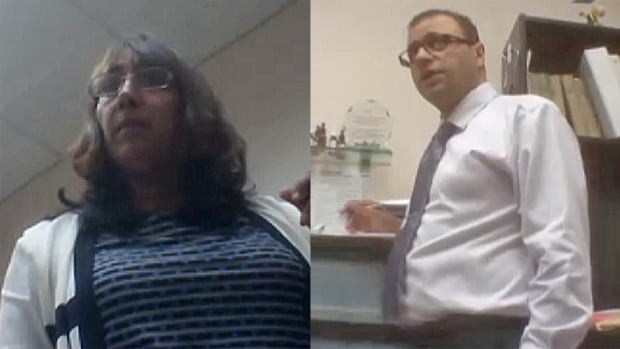 These images were taken on an undercover video by investigators hired to film Sam Samrai (L) and her husband Sarge Sandhu (r). Both are accused of misleading the public to believe they are naturopathic doctors.