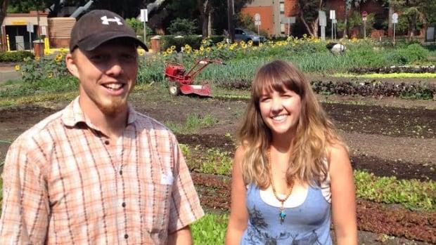 Ryan Mason and Cathryn Sprague are behind Reclaim Urban Farm in Garneau.