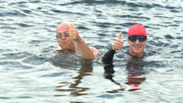 More than $3,000 was raised by the United Way harbour swim from the Woodside Ferry Terminal in Dartmouth to Bishop's Landing in Halifax.