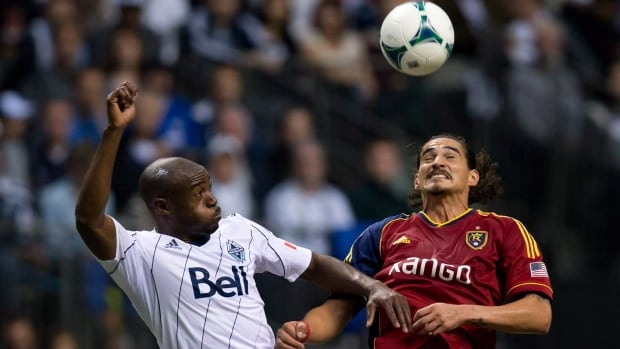 Nigel Reo-Coker, left, is leaving the only Major League Soccer club that he has ever known after the Vancouver Whitecaps confirmed in a news release Thursday that they have traded to  Chivas U.S.A.