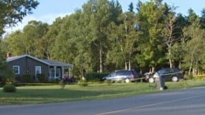Location of double homicide in Montague, P.E.I.