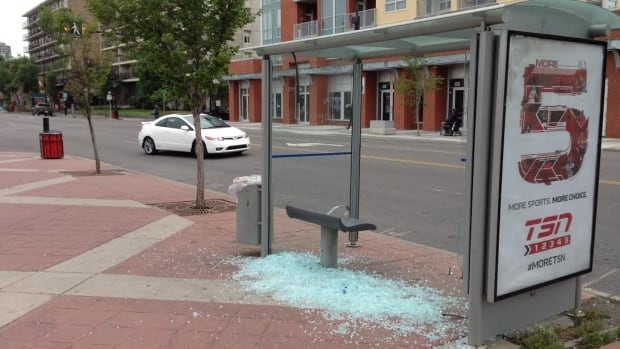 Calgary Transit says the number of bus shelters smashed so far in 2014 is already close to the usual yearly tally.