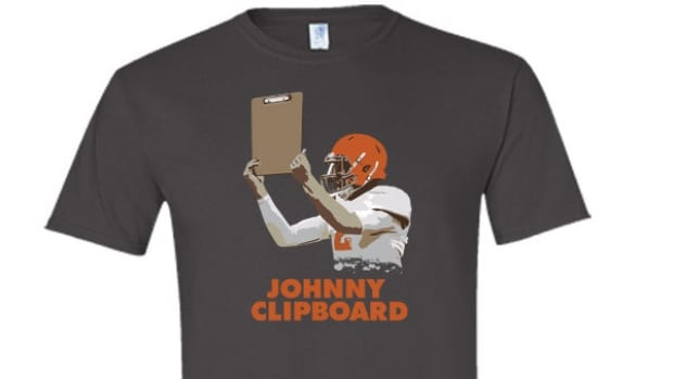 The Heckler Store is trying to capitalize on the scrutiny over the Cleveland Browns' decision to make Johnny Manziel the team's backup quarterback.