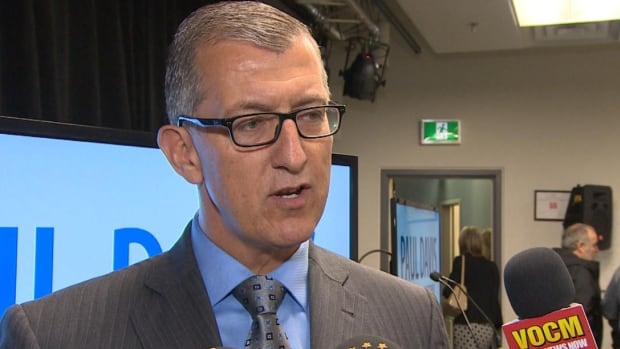Paul Davis announced some general policy plans in St. John's on Friday.