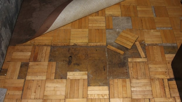 The flooring at Chahor's apartment was damaged as a result of the leak.