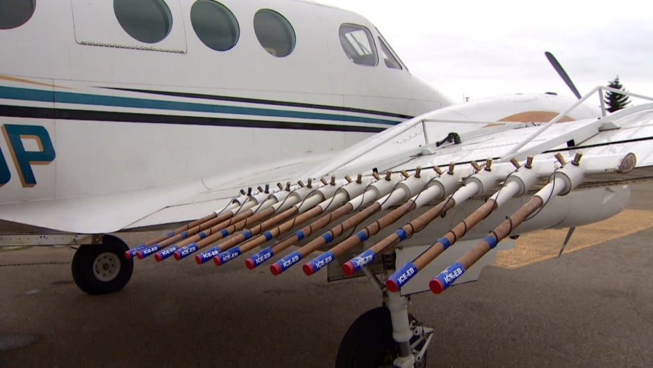 Cloud seeding efforts in Alberta, where the technology is being used to reduce the severity of hail.
