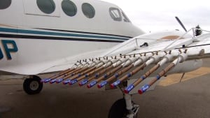 Cloud seeding plane