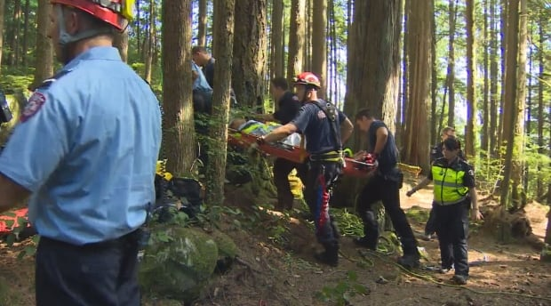 Lynn Canyon swimmer rescued - Aug. 23, 2014
