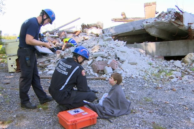 Vancouver earthquake response simulation - Aug. 23, 2014