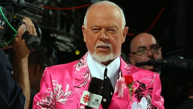 Don Cherry, the star of Coach's Corner on Hockey Night in Canada, is the latest celebrity to do the Ice Bucket Charity Challenge.