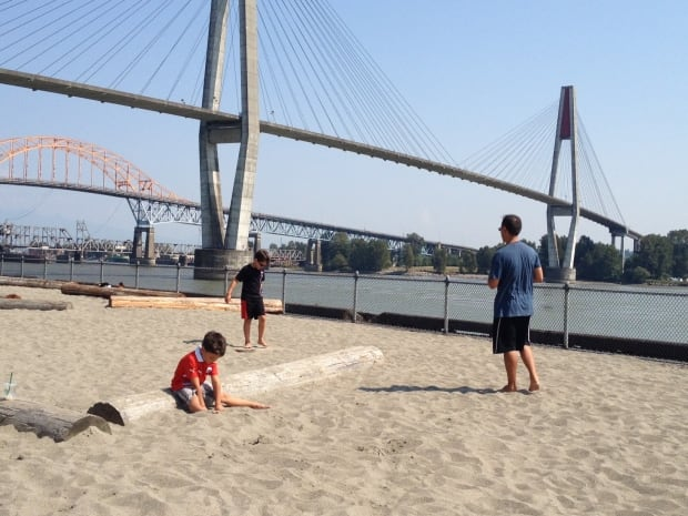 Urban beach in New Westminster