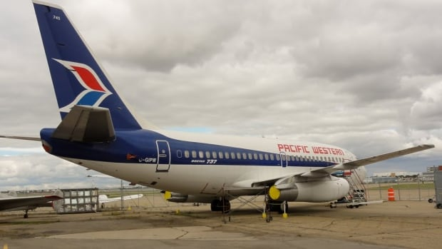 Someone broke into this PWA Boeing 737 over the weekend, stealing a number of parts from the vintage plane, including its emergency door.