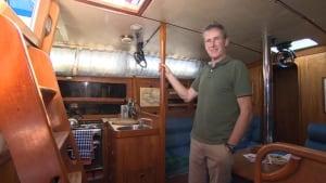Daragh Nagle aboard the Chantey V