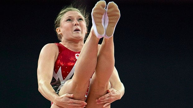 Canada's Rosie MacLennan, seen here winning Olympic gold at the 2012 London Games, claimed the women's trampoline title Monday at the Pan American Gymnastics Championships in Mississauga, Ont.