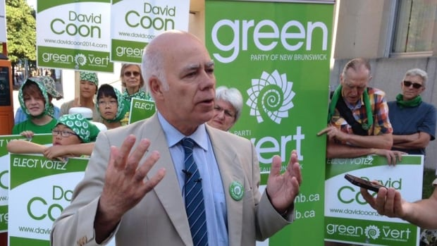 Green Party Leader David Coon is attracting former NDP members, including former leader Allison Brewer, to his party. Brewer (right) attended one of Coon's public announcements this week.