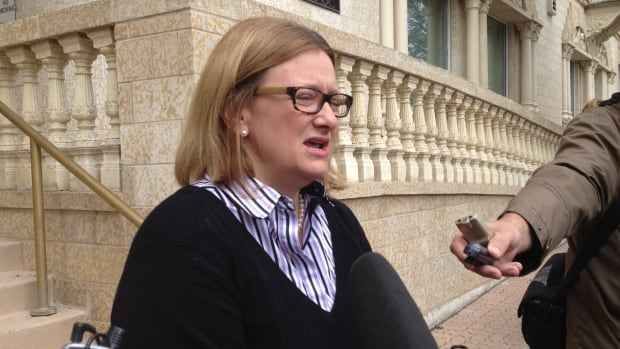 Paula Havixbeck told reporters on Tuesday that if she's elected mayor in the Oct. 22 civic election, she would offer a transit subsidy for people with mental health issues through agencies that provide support for them.