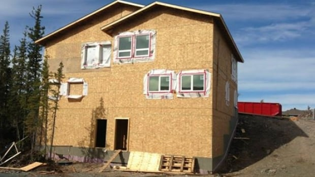 A house under construction by Habitat for Humanity NWT in 2013. The City of Yellowknife passed a motion Aug. 25 to give the organization a lot, or money to buy a lot, every two years for the next 10 years.