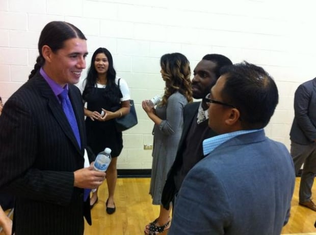 Robert Falcon Ouellette at all-candidates forum