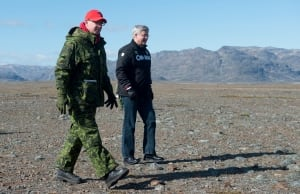 Prime Minister Stephen Harper in the North