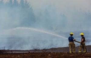 peat farm smoke worker