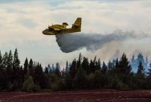 water bomber plane peat fire saint modeste