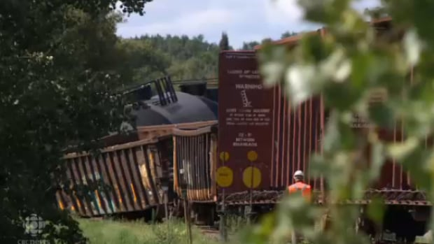Area residents are being allowed to return to their homes Wednesday morning after a train carrying unscented propane derailed in Emerson, Man. Tuesday.