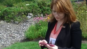 Angela Jo Griffin, NDP candidate in Quispamsis, is using crowdfunding