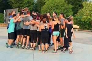 Winnipeg Gone Rogue group huddle