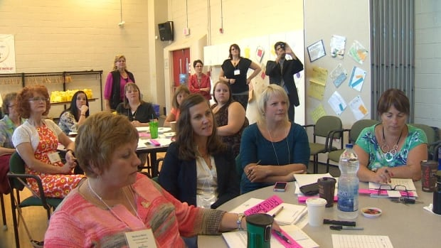 Teachers took part in a training class on Wednesday, ahead of plans to implement full-day kindergarten by 2016.