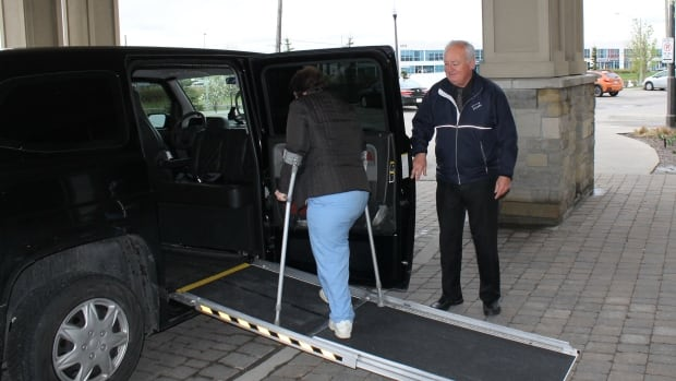 Gary Jakeman says the new limo will hold two wheelchairs and up to seven passengers.