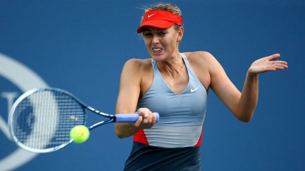 Maria Sharapova of Russia needed three sets to defeat Alexandra Dulgheru of Romania Wednesedy at the U.S. Open in New York.