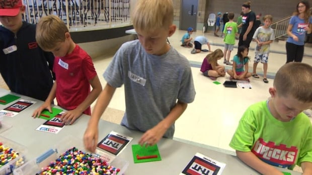 Youngsters in Regina enjoyed a Minecraft camp, using real blocks to create items associated with the popular video game.