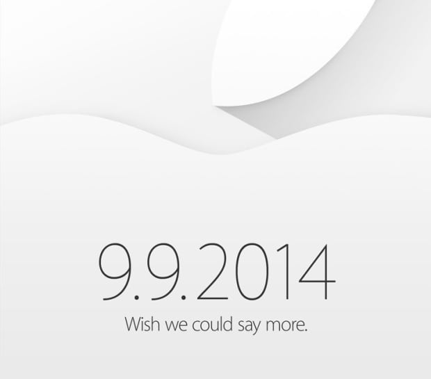 Apple invitation for Sept. 9, 2014 event